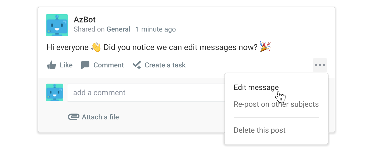 Select 'Edit message' from the dropdown menu