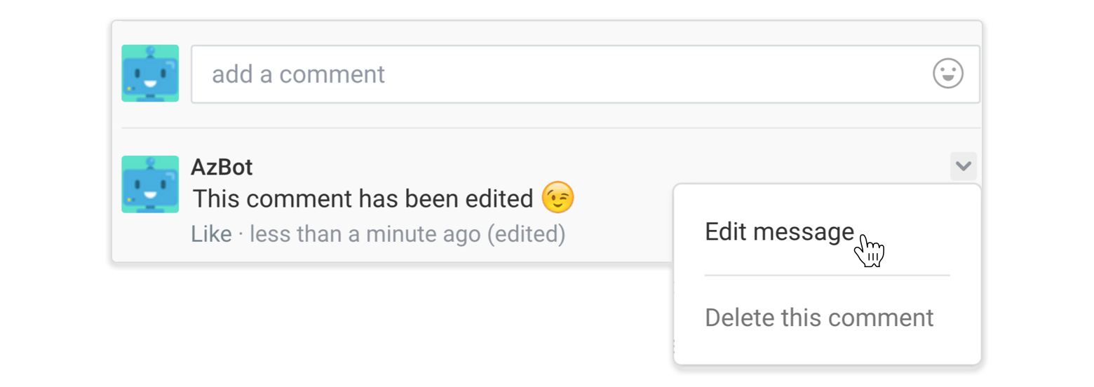 You can edit all your comments as well!