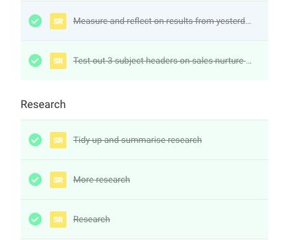 Et voilà! Handy section dividers for your tasks