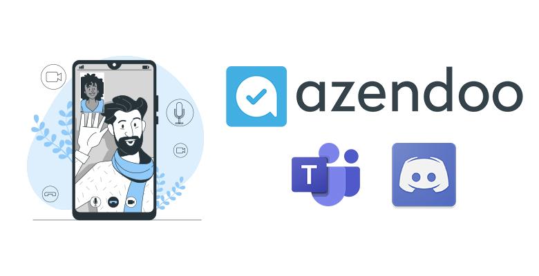 Réunions en visio meetings dans Azendoo avec integrations Teams & Discord